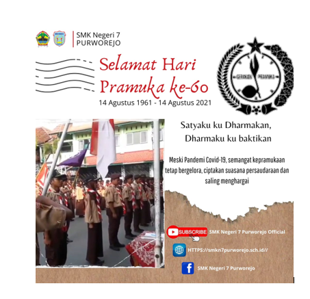 SELAMAT HARI PRAMUKA KE 60