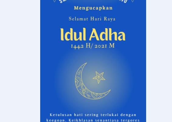 SMK N 7 PURWOREJO MENGUCAPKAN SELAMAT IDUL ADHA 1442 H/ 2021 M